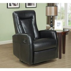 Buy Monarch Specialties Swivel Rocker Recliner Chair in Black on sale online