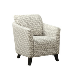 Buy Monarch Specialties Sandstone & Grey Maze Fabric Accent Chair on sale online