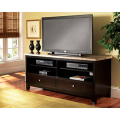 Buy Steve Silver Monarch 60x22 TV Stand in Black on sale online