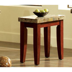 Buy Steve Silver Montibello 24x13 Chairside End Table in Cherry on sale online