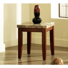 Buy Steve Silver Montibello 24x22 End Table in Cherry on sale online