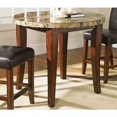 Buy Steve Silver Montibello Marble Top 40x40 Round Counter Height Table on sale online
