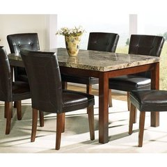 Buy Steve Silver Montibello Marble Top 64x38 Dining Table on sale online