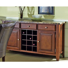 Buy Steve Silver Montibello Server w/ Wine Rack on sale online