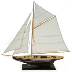 Buy IMAX Worldwide Nautical Birchwood Sailboat w/ Canvas Sails on sale online