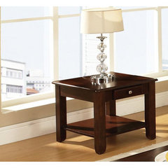 Buy Steve Silver Nelson 24x22 End Table in Dark Cherry on sale online