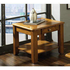 Buy Steve Silver Nelson 24x22 End Table in Dark Oak on sale online