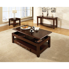 Buy Steve Silver Nelson 3 Piece Occasional Table Set in Dark Cherry on sale online
