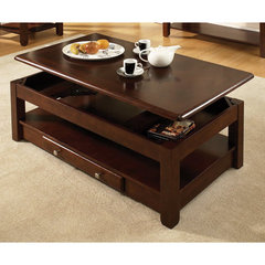 Buy Steve Silver Nelson 48x26 Lift Top Cocktail Table in Dark Cherry on sale online