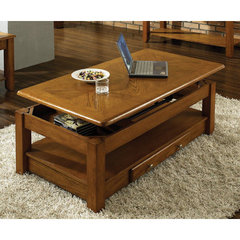 Buy Steve Silver Nelson 48x26 Lift Top Cocktail Table in Dark Oak on sale online