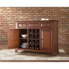 Buy Crosley Furniture Newport Buffet Server w/ Wine Storage in Classic Cherry on sale online