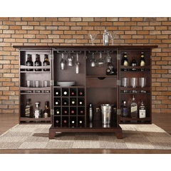 Buy Crosley Furniture Newport Expandable Bar Cabinet in Vintage Mahogany on sale online