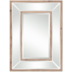 Buy Cooper Classics Odessa 32x24 Mirror in Natural Wood on sale online