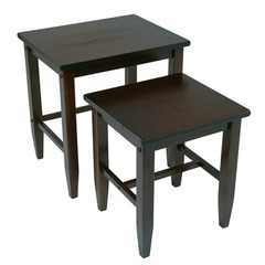 Buy Office Star 2 Piece Nesting Tables in Espresso on sale online