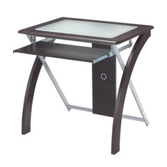 Buy Office Star 32x24 Computer Desk w/ Frosted Glass in Espresso on sale online