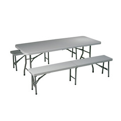 Buy Office Star 3 Piece Folding Table & Bench Set on sale online