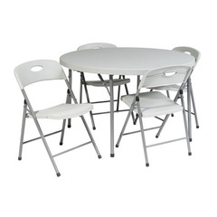 Buy Office Star 5 Piece Round Folding Outdoor Dining Set on sale online