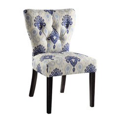 Buy Office Star Andrew Chair in Medallion Ikat Blue on sale online