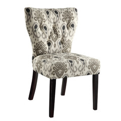 Buy Office Star Andrew Chair in Medallion Ikat Grey on sale online