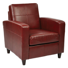 Buy Office Star Ave Six Venus Club Chair in Crimson Red Eco Leather on sale online