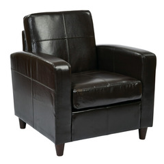 Buy Office Star Ave Six Venus Club Chair in Espresso Eco Leather on sale online