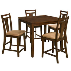Buy Office Star Brentwood 5 Piece 44x44 Counter Height Table Set in Cherry on sale online