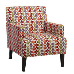 Buy Office Star Carrington Confetti Armchair w/ Inner Boxspring & Solid Wood Legs on sale online