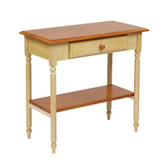 Buy Office Star Country Cottage 15x30 Foyer Table in Antique White & Cherry on sale online
