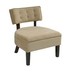 Buy Office Star Curves Button Accent Chair in Coffee Velvet on sale online