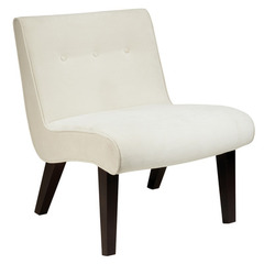 Buy Curves Valencia Accent Chair in Oyster Velvet on sale online