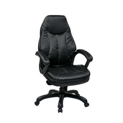 Buy Office Star Deluxe Oversized Executive Black Faux Leather Chair w/ Padded Arms on sale online
