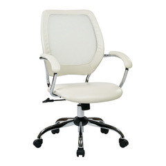Buy Office Star Designer Screen Back Managers Chair in White on sale online
