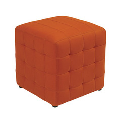 Buy Office Star Detour 15 Inch Orange Fabric Cube Ottoman on sale online
