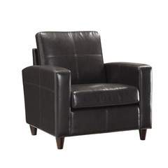 Buy Office Star Espresso Eco Leather Club Chair w/ Espresso Finish Legs on sale online