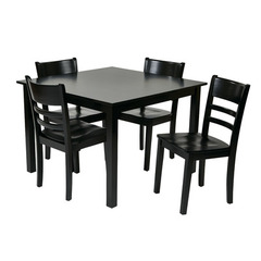 Buy Office Star Everidge 5 Piece Square 42x42 Dining Room Set in Black on sale online
