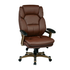 Buy Office Star Executive Eco Leather Chair in Cocoa & Wine on sale online