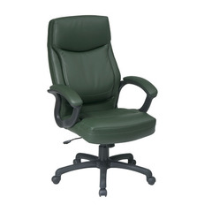 Buy Office Star Executive High Back Green Eco Leather Chair w/ Locking Tilt Control on sale online