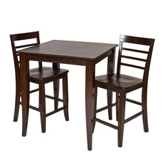 Buy Office Star Jamestown 3 Piece Square 35x35 Pub Table Set in Espresso on sale online