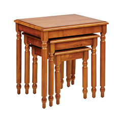 Buy Office Star Knob Hill 3 Piece 17x21 Nesting Tables in Antique Cherry on sale online