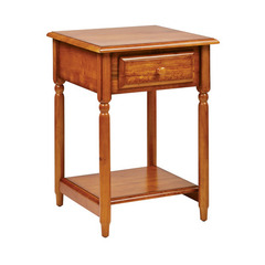 Buy Office Star Knob Hill Square 20x20 Accent Table in Antique Cherry on sale online