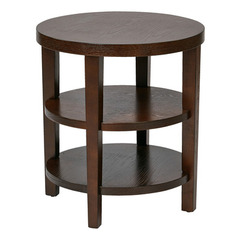 Buy Office Star Merge 20x20 Round End Table in Espresso on sale online
