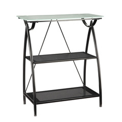 Buy Office Star Newport 2-Shelf Bookcase w/ Frosted Tempered Glass Top on sale online