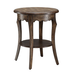 Buy Office Star Roseville Toffee Nut Hand Finish Round 21x21 Accent Table on sale online