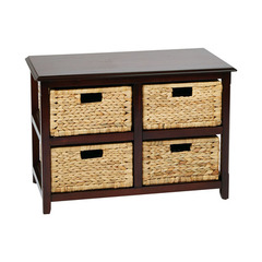 Buy Office Star Seabrook Four-Tier Double Storage Unit in Espresso on sale online