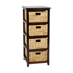 Buy Office Star Seabrook Four-Tier Storage Unit in Espresso on sale online