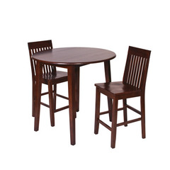 Buy Office Star Westbrook 3 Piece Drop-Leaf Round 39x39 Pub Table Set in Amaretto on sale online