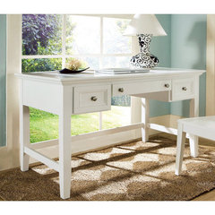 Buy Steve Silver Oslo 54x28 Writing Desk in White on sale online