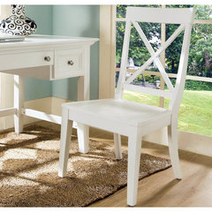 Buy Steve Silver Steve Silver Oslo Side Chair in White on sale online
