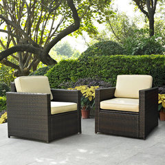 Buy Crosley Furniture Palm Harbor 2 Piece Outdoor Wicker Seating Set - Two Outdoor Wicker Chairs on sale online