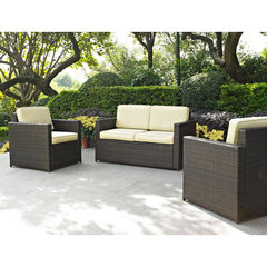 Buy Crosley Furniture Palm Harbor 3 Piece Outdoor Wicker Seating Set - Loveseat & Two Outdoor Chairs on sale online